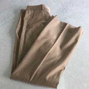THeory 6 Wool Pant Trouser Brown Chevron C6